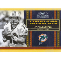 2008 Classics Timeless Treasures Silver Dan Marino 9/250