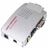 Adaptador Convertidor Laptop Pc Vga - Señal Tv Rca S-video
