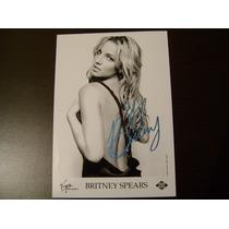 Britney Spears Fotografia De La Disquera Firmada + Boleto