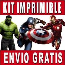 Mega Kit Imprimible Los Vengadores Avengers Invitaciones