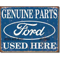Poster Metalico Litografia Lamina Partes Genuinas Ford