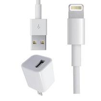 2x1 Cargador Pared Y Cable Datos Lightning Para Iphone 5