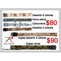 Cinturones Lisos , Camu Y Digital.