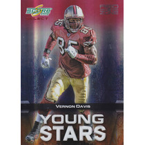 2008 Select Red Zone Young Stars Vernon Davis 23/30 Te 49ers