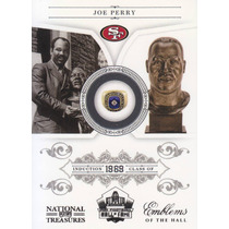 2011 Treasures Emblems Of The Hall Joe Perry Rb 49ers 1/99