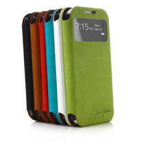 Italian Flip Cover Con Ventana Original Galaxy S4