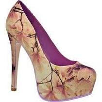 Hermosas Zapatillas Andrea Altas Zapatos Pumps Beige / Lila