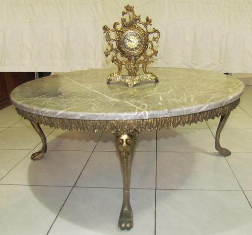 Mesa bronce marmol tipo antiguo 3 en mercado libre for Cuanto esta el marmol