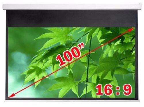 Pantalla el ctrica proyector proyecci n 100pl 16 9 49 x for Pantalla proyector electrica