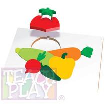 23449 Verduras Rompecabezas 11 Piezas De Madera Teach Play