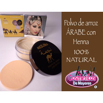 Polvo De Arroz 100% Natural Arabe Con Henna Mayoreo 6 Pza