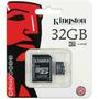 Kingston® Micro Sd 32 Gb + Adaptador Samsung Galaxy Lg
