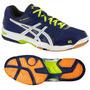 Tenis Asics Rocket 7  Azul Para Voleibol, Handball, Gym