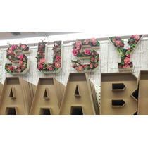 Letras Mdf Dulceros Decorar Ledbodas Candy Bar