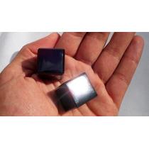 Par De Cubo 3d Piedra Obsidiana Ch 102