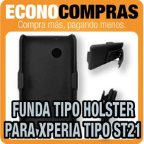 Funda Combo Tipo Holster Para Xperia Tipo St21 100% Nueva