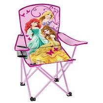 Silla Plegable Disney Jóvenes Princesa Con Apoyabrazos Y La