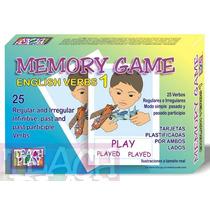 26013 Memoria Inglés 25 Verbos 50 Tarjetas 5+ De Teach Play
