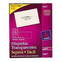 Etiquetas Transparentes 5662 3.4 X 10.2 Cm Every