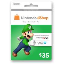 Tarjetas Eshop De Nintendo 3ds Y Wii U Americana 35usd
