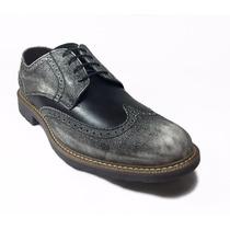 Zapatos Brogue 100% Piel Omarelo Venne E-10000 De Vestir Mod
