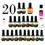 20 Esmaltes Gel Uv Led Tipo Gelish 15 Ml Profesional Oferta<br><strong class='ch-price reputation-tooltip-price'>$ 1,590<sup>00</sup></strong>