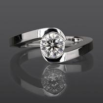 Anillo Compromiso 14k Diamante Natural .20 Puntos G Vs1