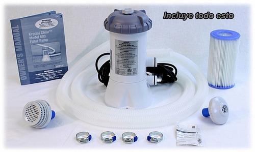 Bomba filtrante para albercas intex bestway 530 gph filtro for Albercas bestway precios