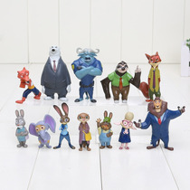 Set 12 Figuras Zootopia 4 A 8 Cm Nick Fox Judy Rabbit Flash