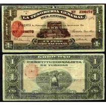 Si-yuc-2 Billete De Yucatan 1 Pesos