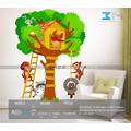 Vinilo Decorativo Árbol Infantil-i 52. Calcomanía Animalitos