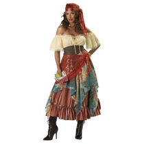 Disfraz De Lujo De Gitana Para Damas, Envio Gratis