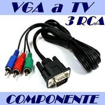 Cable Adaptador De Vga A Video Componente (y / Pr / Pb) Rgb