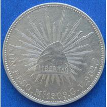 Moneda 1 Peso Mexico 1909 G V Excelente Alta Condicion
