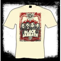 Black Sabbath - Rostros Camiseta Color Arena Rock Metal Ozzy
