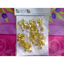 Set Monos Dorados Miniatura Para Decorar O Casitas Miniatura
