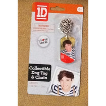 One Direction Collar Con Placa De Louis Artículo Oficial.mn4