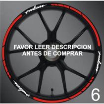 Stickers/cintas Para Rines Pulsar Bajaj Y Otras Motos Model6