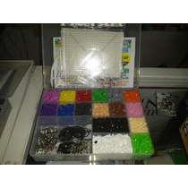 Kit Multiple 1 Perler, Hama, Pixel Art Base, Pinzas, Llavero