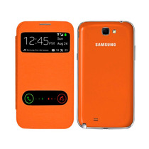 Samsung Galaxy Note 2 N7100 Flip Cover S View Color Naranja