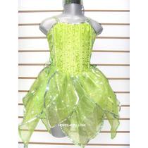 Vestido Campanita Talla 8 Años Princesa De Lujo Niñas En