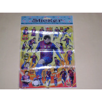 Planilla Estampas Stickers Lionel Messi Fc Barcelona