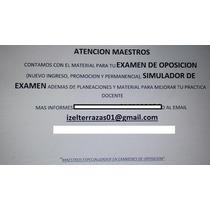Material Para Examenes De Oposicion