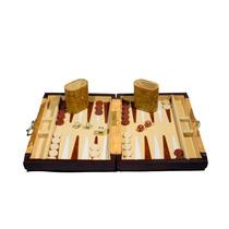 Backgammon Con Forro De Mapa Antiguo !!!!!!!!!!!!!!!!!!!!!!!