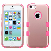 Funda Case Doble Protector Uso Rudo Iphone 5c Rose Gold Hp