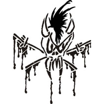Vinil Sticker Metallica Scary Guy Live Shit Black 17x25 Cm