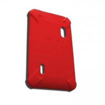 La Mas Barata Funda Tablet Vorago Tc-124 Roja Goma 7