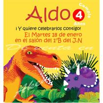 Dinosaurios 10 Invitaciones Foto Personalizadas