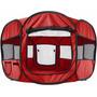 Casa Corral Portatil Para Mascotas 122 X 122 X 61 Color Rojo
