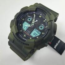 Reloj Casio G Shock Ga-100mm-3 Verde Antimagnetico Wr200m